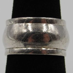 Vintage Size 6 Sterling Wide Petite Band Ring